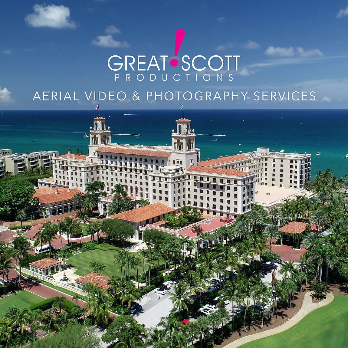 Aerial Photo the Breakers Hotel Palm Beach