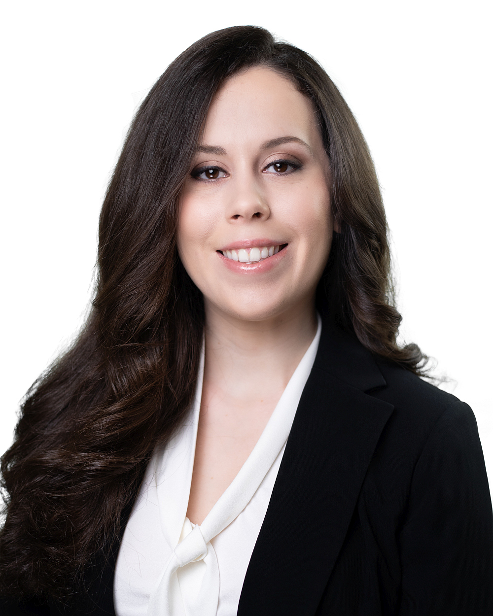 Young brunette woman business headshot